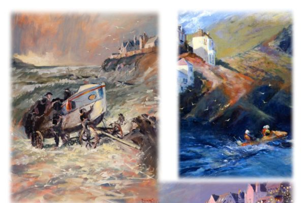 Art for Port Isaac RNLI Barbara Hawkins