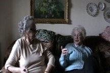 Joan Murray and Yvonne Cleave - Doing the washing