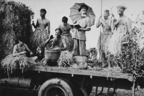 1965 Carnival Float - Missionary in the cooking pot!