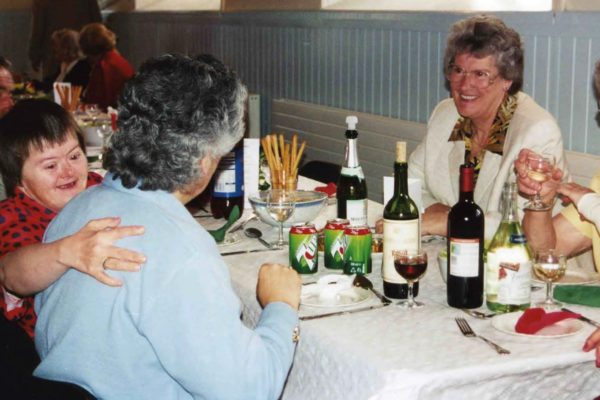 A fundraising meal in the Village Hall