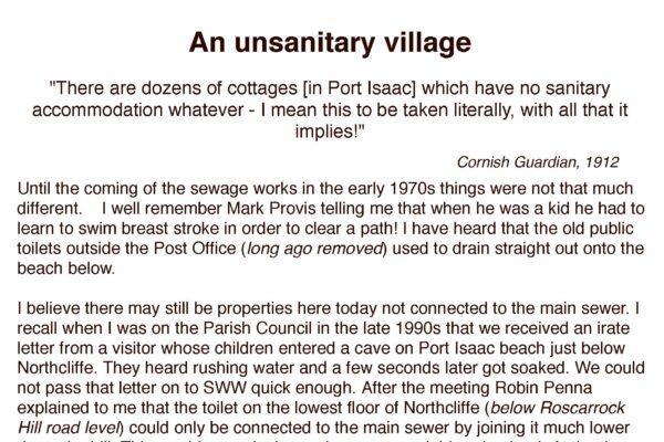 An unsanitary village
