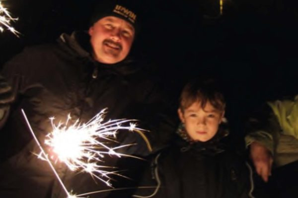 Andy & Tom Penny enjoying the annual fireworks