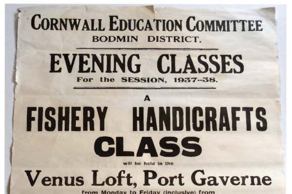Fishing handicrafts evening classes poster