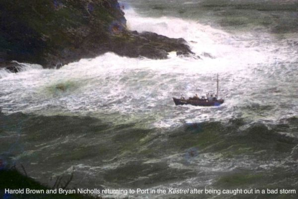 Harold Brown and Bryan Nicholls return safe to port