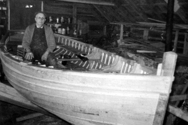 Harry Hills in his workshop, c1965
