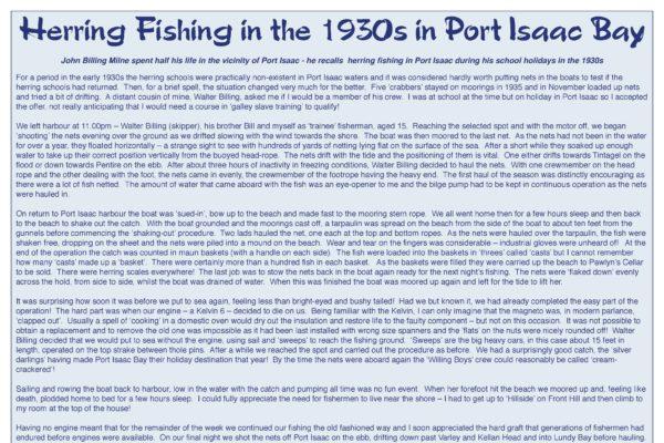 Herring fishing in the 1930s