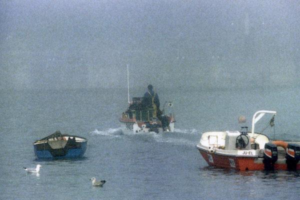 John Brown goes out fishing, c1973