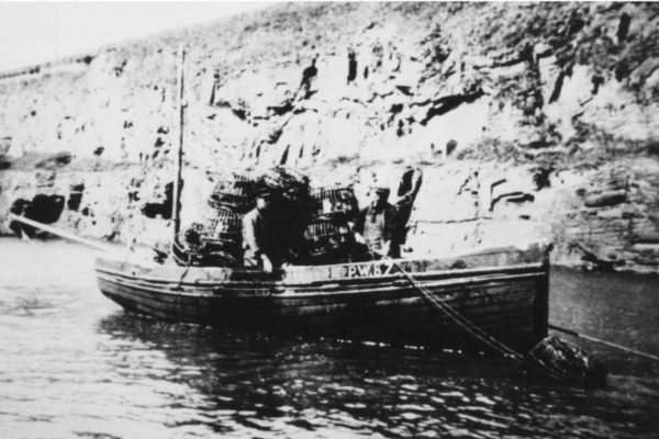 The 'Boy Frank' in Port Gaverne harbour