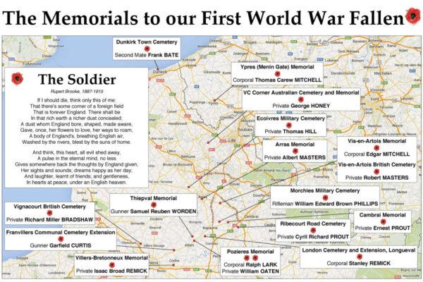 The Memorials to our First World War Fallen