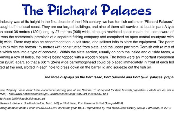 The Pilchard Palaces