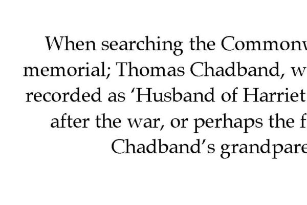 Thomas Chadband & Alfred White