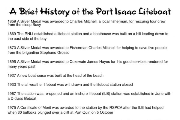 A Brief History of the Port Isaac Lifeboat