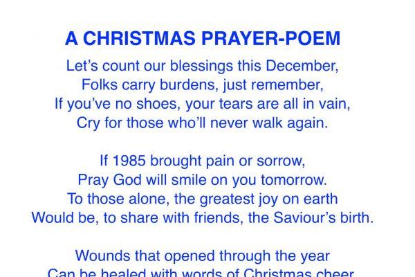 A Christmas Prayer-Poem
