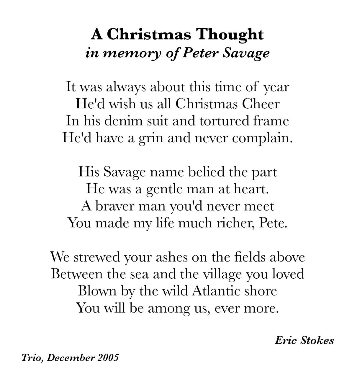 A Christmas Thought