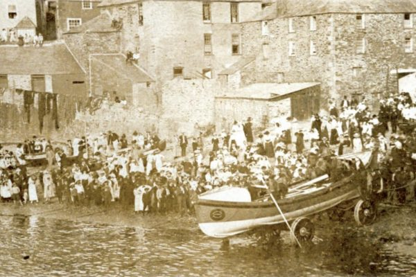 A Port Isaac Lifeboat launch