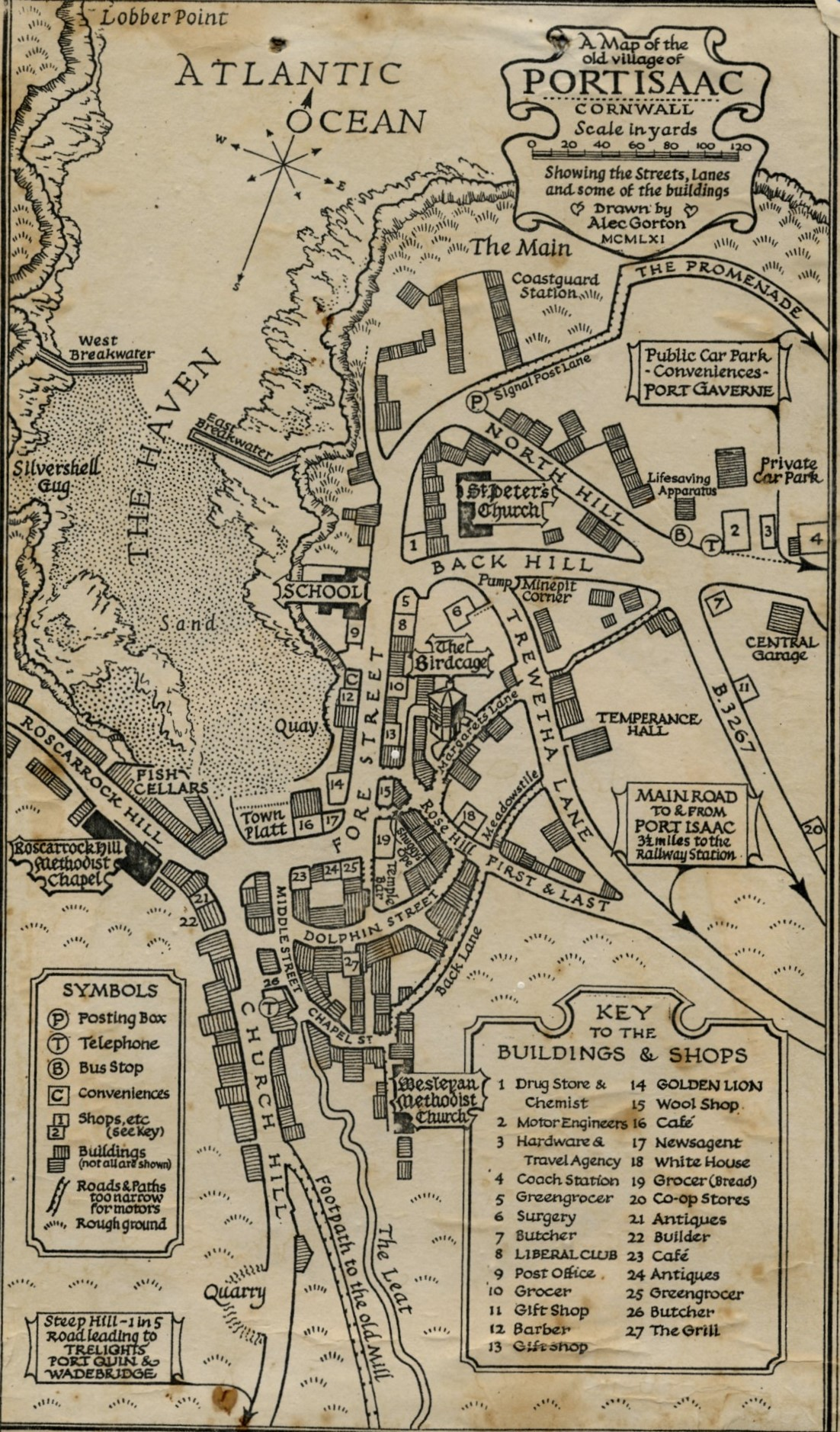 A map of the old village of Port Isaac