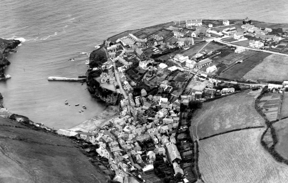 Aerial photography of Port Isaac