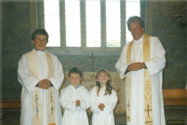 Altar servers at St Endellion Church