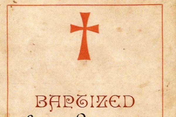 Certificate of Baptism of Samuel Bunt