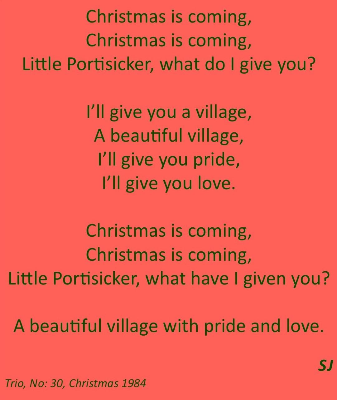 Christmas is coming …
