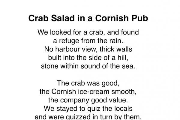Crab Salad in a Cornish Pub