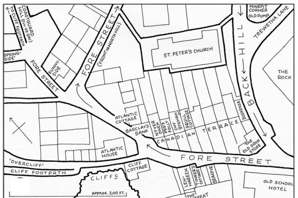 Fore Street (top) area map