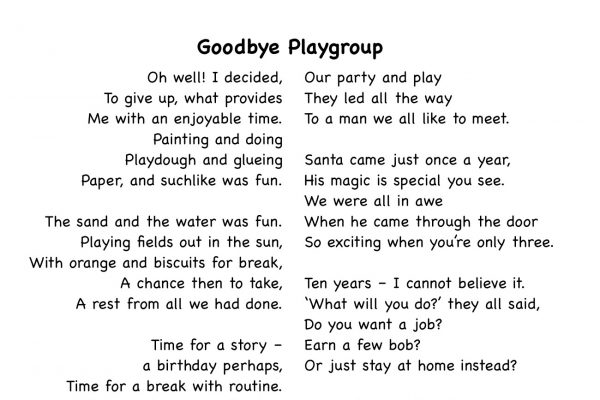 Goodbye Playgroup