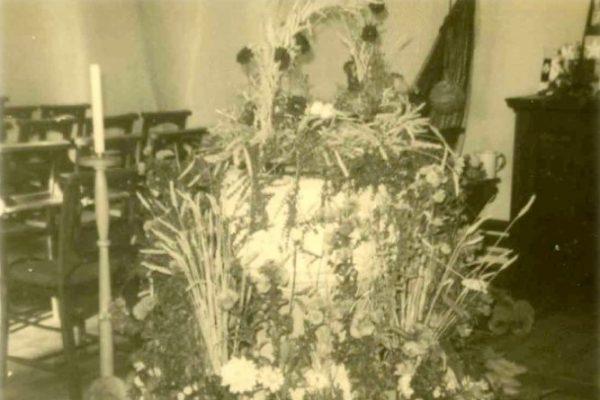 Harvest Festival in St Peter's Church, 1967
