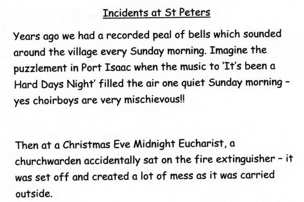Incidents at St Peter's Church
