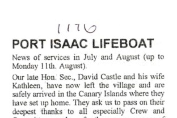 Lifeboat news 1996