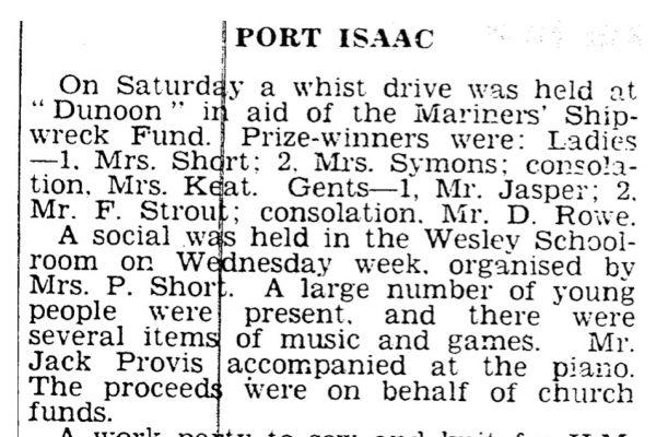 Newspaper cutting, February 15th 1940