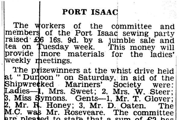 Newspaper cutting, February 22nd 1940