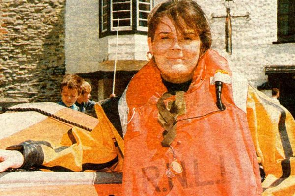 Nicki Bradbury, the first female crew member of Port Isaac Lifeboat