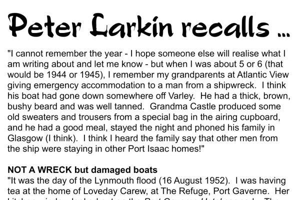 Peter Larkin recalls …