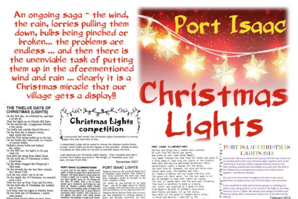 Port Isaac Christmas Lights