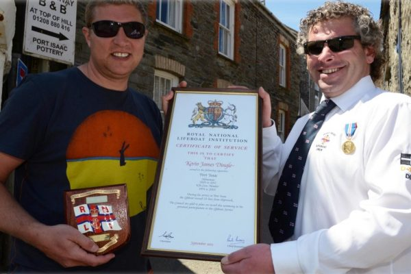 RNLI Crew Service Award to Kevin Dingle