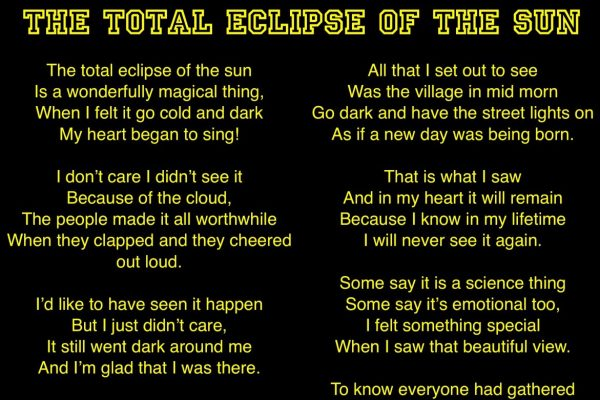 The Total Eclipse of the Sky