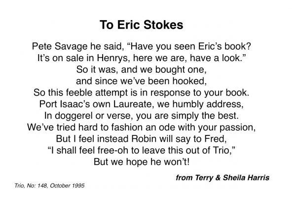 To Eric Stokes