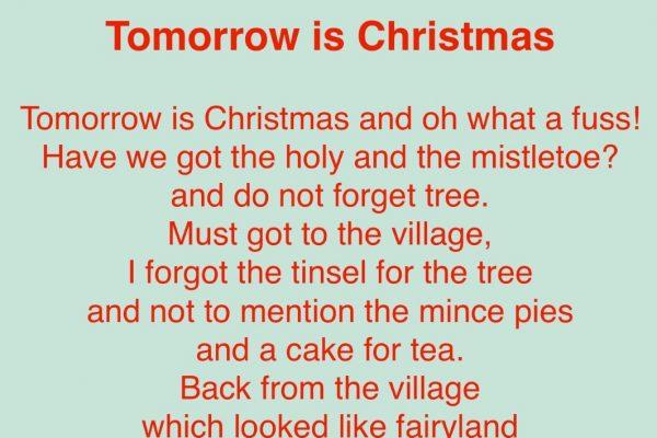 Tomorrow is Christmas